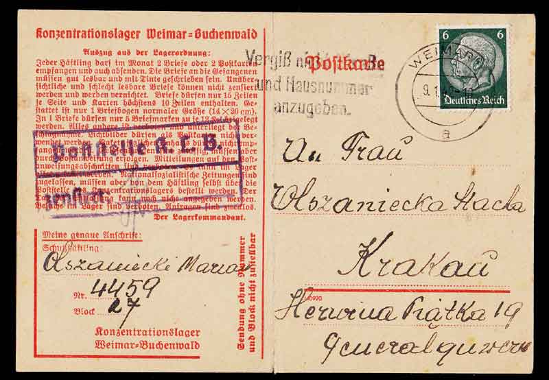 BUCHENWALD CONCENTRATION CAMP,Third Reich Stamps, Third Reich Covers, Nazi Covers, Nazi Third Reich covers, nazi germany stamp collecting, Nazi Germany, Nazi Covers, Nazi, Concentration Camps, Zeppelin, Hindenburg, Airship, Third Reich, Nazi Stamps, Hitler, 3rd Reich, NSDAP, Nazi Germany